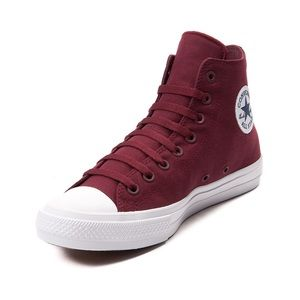 Converse Maroon High-tops with Lunarlon
